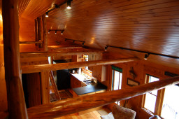 A lofty view of the cabin