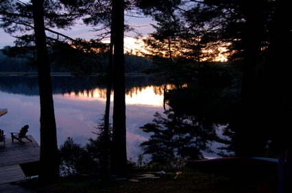 Rainbow Lake at dusk